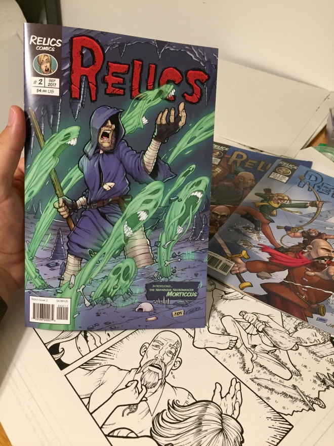 Relics Comic in hand